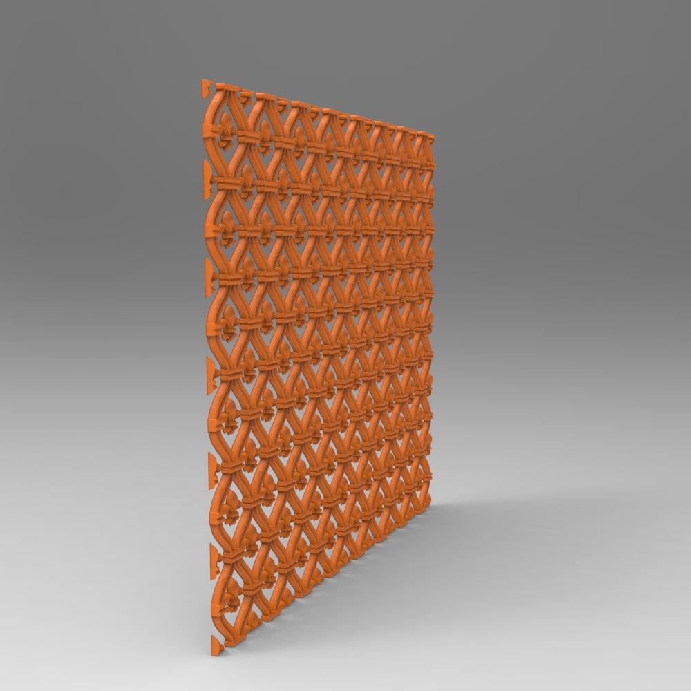 Reticulate Panel Relief 3D Model STL Format File CNC Router ArtCAM Aspire Type3 JDpaint Engraving Carving File A2047