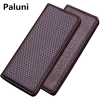 Genuine Leather Flip Cover Case For Huawei P Smart Z Phone Bag For Huawei P Smart Flip Leather Case Kickstand Phone Case Funda