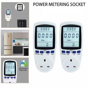 Ue BR UK Plug Socket cyfrowy watomierz miernik pobór mocy Watt licznik energii KWh AC 220V 110V analizatory energii elektrycznej monitory tanie i dobre opinie Houkiper CN (pochodzenie) 230V-250V Power Meter 0 000A-13 000A