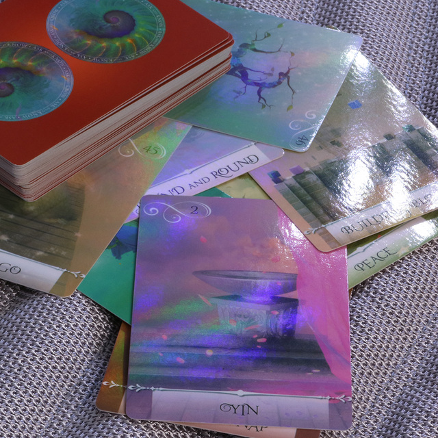 New arrival shine knowledge oracle cards deck, 52 cards, Holographic wisdom tarot cards divination fate for women board games 1