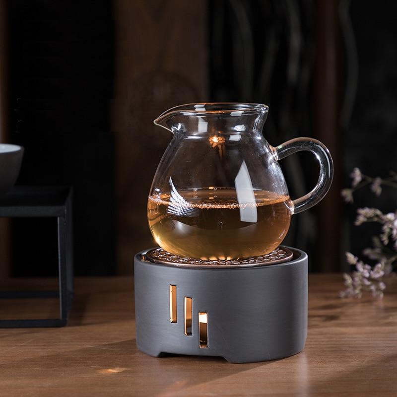 Image 3 - Heating Base Japanese Candle Tea Warmer Kungfu Tea Warmer  Insulation Base Ceremony Ceramic Heater Tea Pot Boiled Flower Tea  -