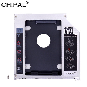 CHIPAL Aluminum 2nd HDD Caddy Optibay 9.5mm SATA 3.0 SSD CD DVD Case Enclosure caddy for Macbook Air Pro 13