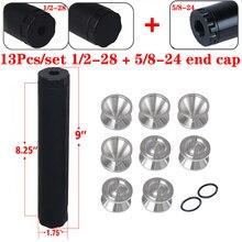Pcmos 1/2 28 エンドキャップ燃料フィルター燃料トラップ溶剤フィルター 1.75 インチ od ナパ 4003 wix 24003 6061 T6 自動車フィルターカップ