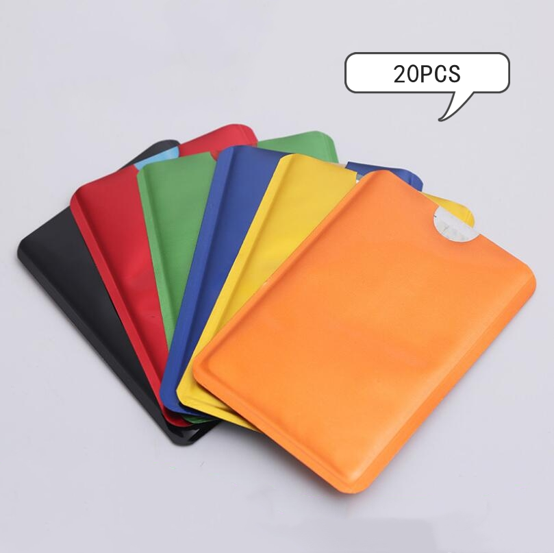 20pcs Anti Scan RFID Sleeve Protector Credit ID Card Foil Holder Anti-Scan Card Sleeve