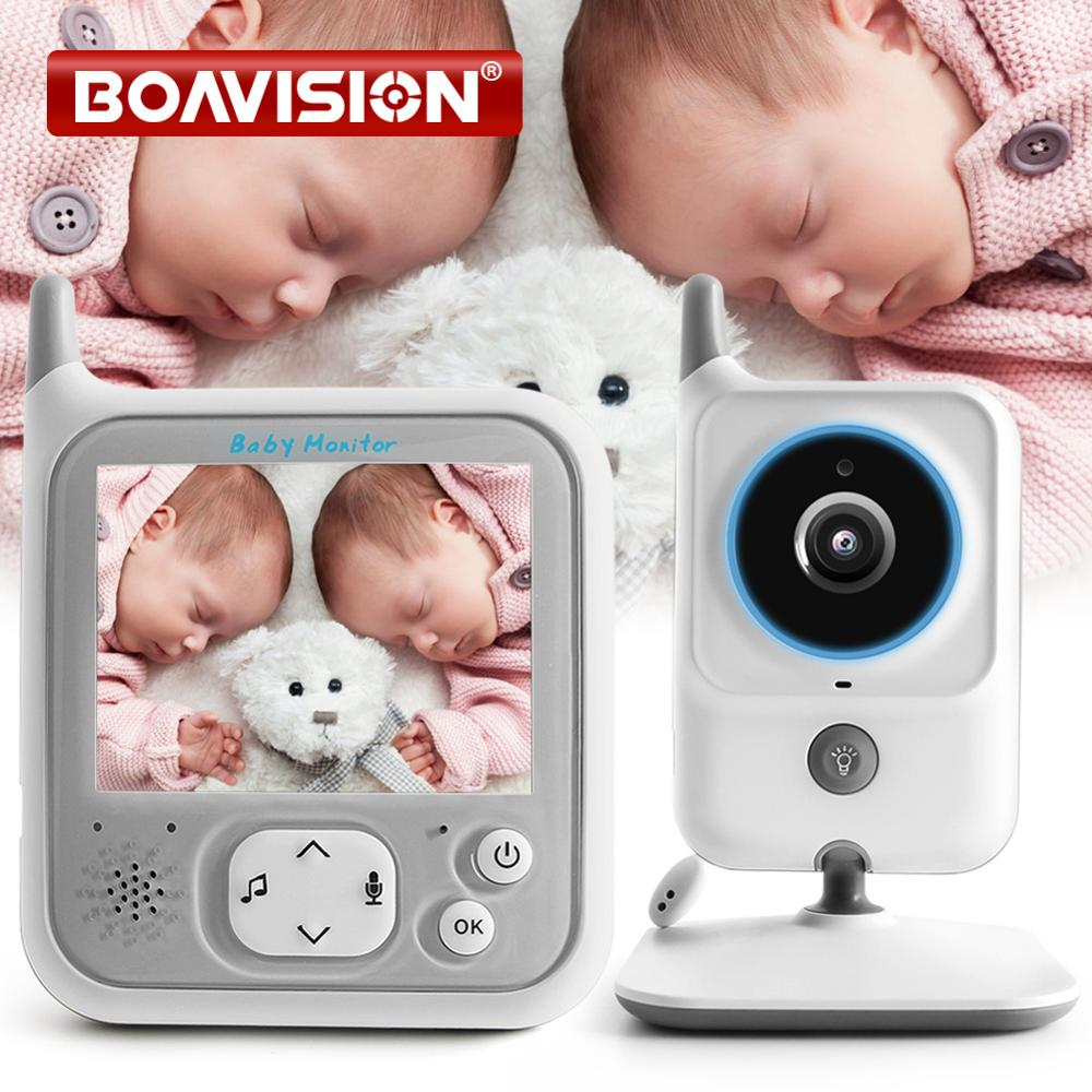 3.2 Inch LCD Video Baby Monitors Wireless Babysitter Two Way Audio Night Light Temperature Pet Baby Camera Nanny Music VB607