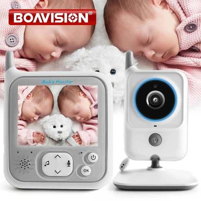 3.2 Inch LCD Video Baby Monitors Wireless Babysitter Two Way Audio Night light Temperature Pet Baby Camera Nanny Music VB607
