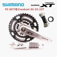 SHIMANO DEORE XT FC M770 44 32 22T 170mm 175mm Crankset MTB 3x9 Speed 27 Speed 170/175mm Crank 104BCD Bike Bicycle With BB