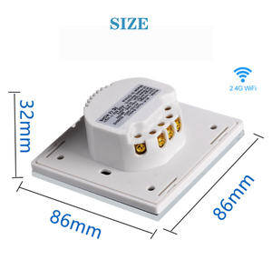 Image 5 - EU Zigbee Touch Switch Smart Home Switcher Light Switch Zero FireWire Control Swticher Google Home Alexa Control Voice Control