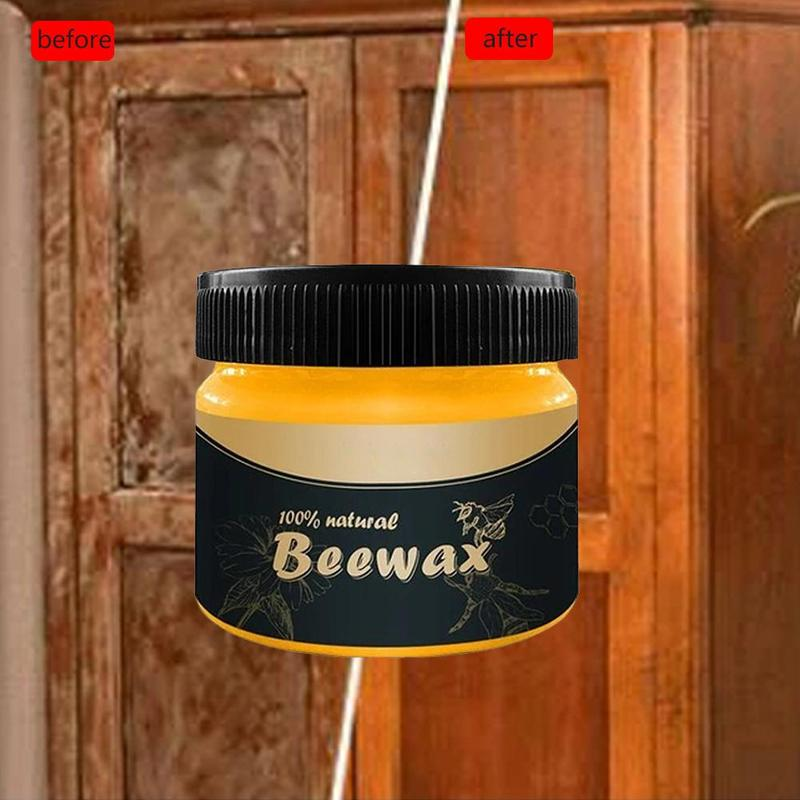 1 PCS Wood Seasoning Beewax Wood Care Wax Solid Wood Maintenance Cleaning Furniture Waterproof Wear-Resistant Furniture Care Wax