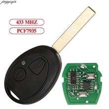 Jingyuqin Control remoto llave de coche 433Mhz PCF7935 para Rover 75 Z3 Z4 X3 X5 E46 E39 E36 E34 Mini Cooper S R50 R53 MG ZT