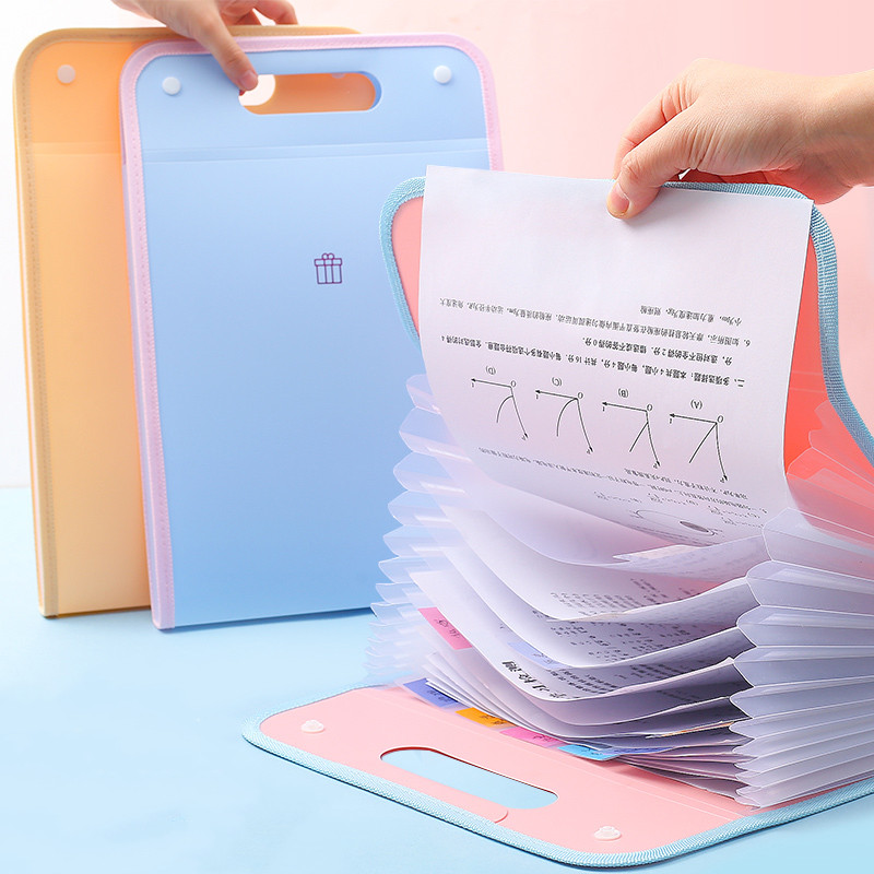 2020 Sharkbang Waterproof Portable 13 Layer A4 Expanding File Folder Bag Document Subject Classificy Organizer Storage Folder