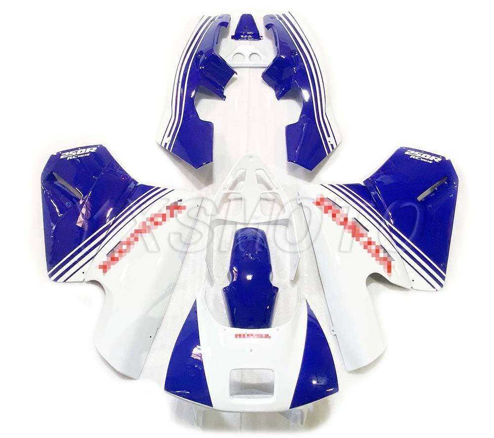 Brand New ABS Fairings NSR250 P2 18 Issues White Blue Bodywork Fairing Kit Nsr 250 P2 Issues 18
