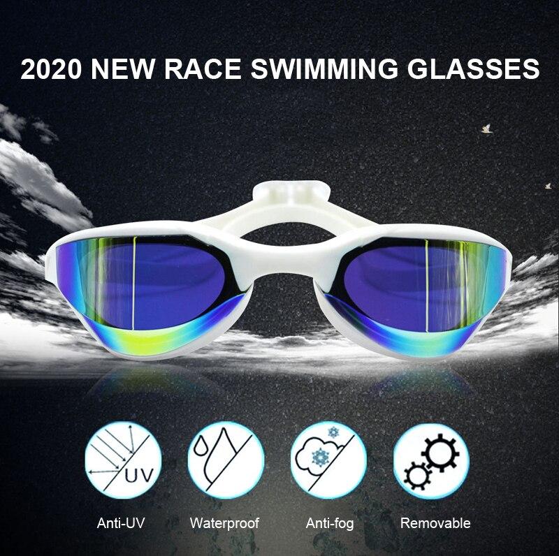 Nova profissão de corrida natação óculos chapeamento