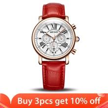 MEGIR moda kobiety bransoletki z zegarkiem Top marka luksusowe panie zegarek kwarcowy zegar dla miłośników Relogio Feminino sportowe zegarki na rękę