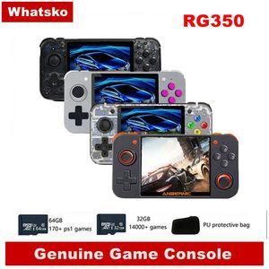 Whatsko Anbernic RG350 Handheld Video Retro Game Console Mini Gaming Console 64 Bit 3.5 inch Game Player 14000+ Games Child Gift(China)
