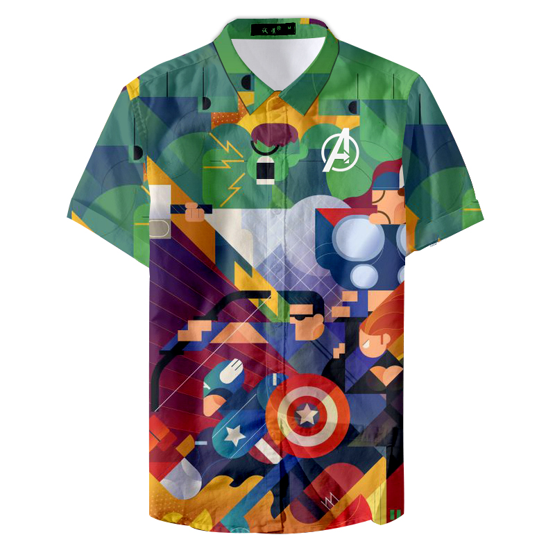 Ethnic Style Printed Summer Retro Street Floral Graphic Men's Shirts