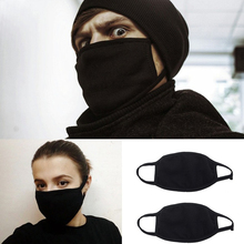 20PCS Black Bilayer Cotton Mouth Mask Anti Haze Dust Washable Reusable Double Layer Dustproof Mouth-muffle Winter Warm