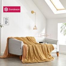 Модное теплое одеяло sondeson волшебное флисовое покрывало современное