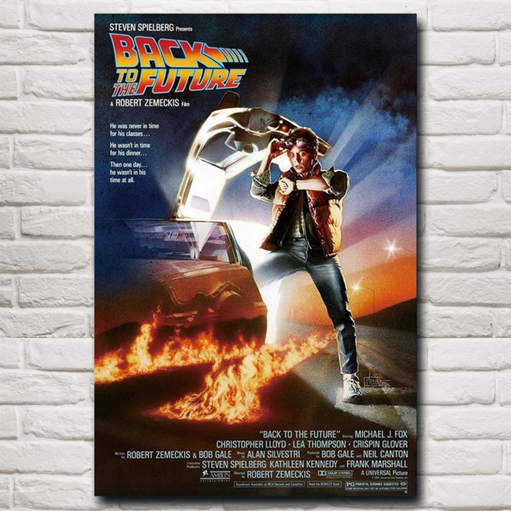 Back ToThe Future Car Movies Canvas Painting Posters Prints Quadros Wall Art Classic Picture for Living Room Home Decor Cuadros(China)