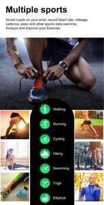 "Image 4 - DTX 1.78 ""HD ساعة ذكية الرجال معدل ضربات القلب ECG ضغط الدم Smartwatch 2020 الرياضة اللياقة البدنية سوار ل ios أندرويد هواوي شاومي"