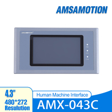 AMSAMOTION AMX-043C 4.3'' Inch HMI Touch Screen 480*272 Ethernet Port Human Machine Interface Touch Panel Samkoon SK-043HS touch screen 7 inch hmi mt4434t 800 480 machine interface new