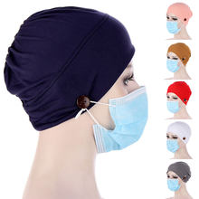 Femmes musulmanes Hijab avec bouton écharpe intérieure Hijab casquettes dames islamique bandeau Turban bandeau bandeau femmes foulard en gros