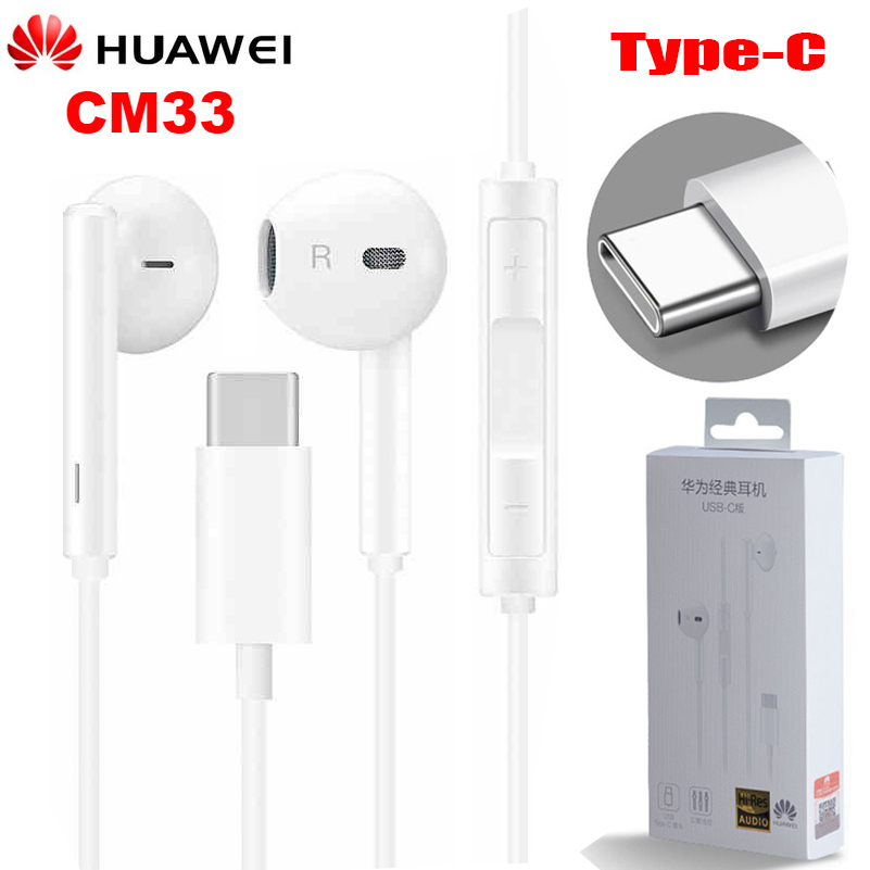 Оригинальные наушники HUAWEI CM33 Eerbuds USB TYPE C, микрофон с регулятором громкости для Mate 10 Mate 10 Pro P20 P20 P30 Pro|Наушники и гарнитуры|   | АлиЭкспресс
