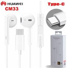 Original HUAWEI CM33 kopfhörer Eerbuds USB TYP C Mikrofon Volume Control für Taube 10 Mate 10 Pro P20 P20 P30 pro