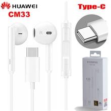 Oryginalne słuchawki HUAWEI CM33 Eerbuds USB typ C regulacja głośności mikrofonu dla Mate 10 Mate 10 Pro P20 P20 P30 Pro