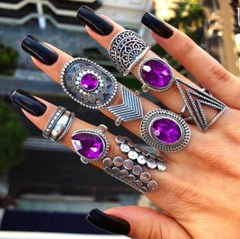 9 pcs Boho Ring Jewelry Rings a4a426b9b388f11a2667f5: 0602|1148|1193|1233|1255|1694|1695
