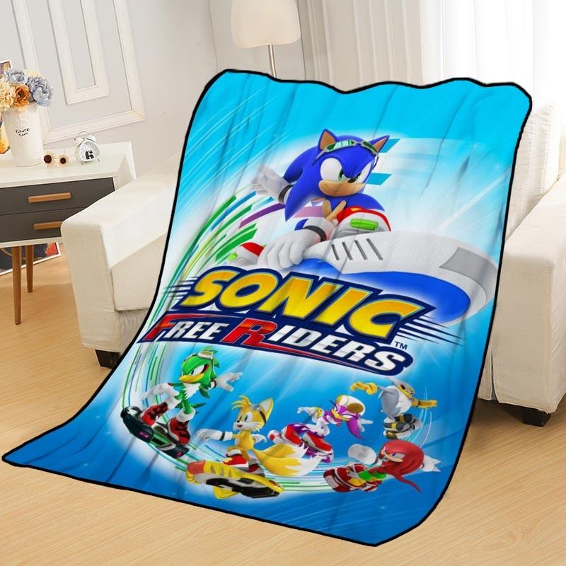Custom Sonic The Hedgehog Blankets For Beds Throw Blanket Soft Blanket Summer Blanket Anime Blanket Travel Blanket Aliexpress