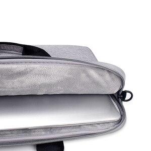 Image 5 - Saco do portátil 13.3 15.6 14 polegada à prova dsleeve água sacos de notebook manga para macbook ar pro 13 15.4 caso bolsa ombro maleta capa