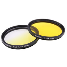 Фильтр для камеры 52 мм полностью желтый градиентный желтый фильтр для объектива камеры Nikon D3100 D3200 D5100 SLR