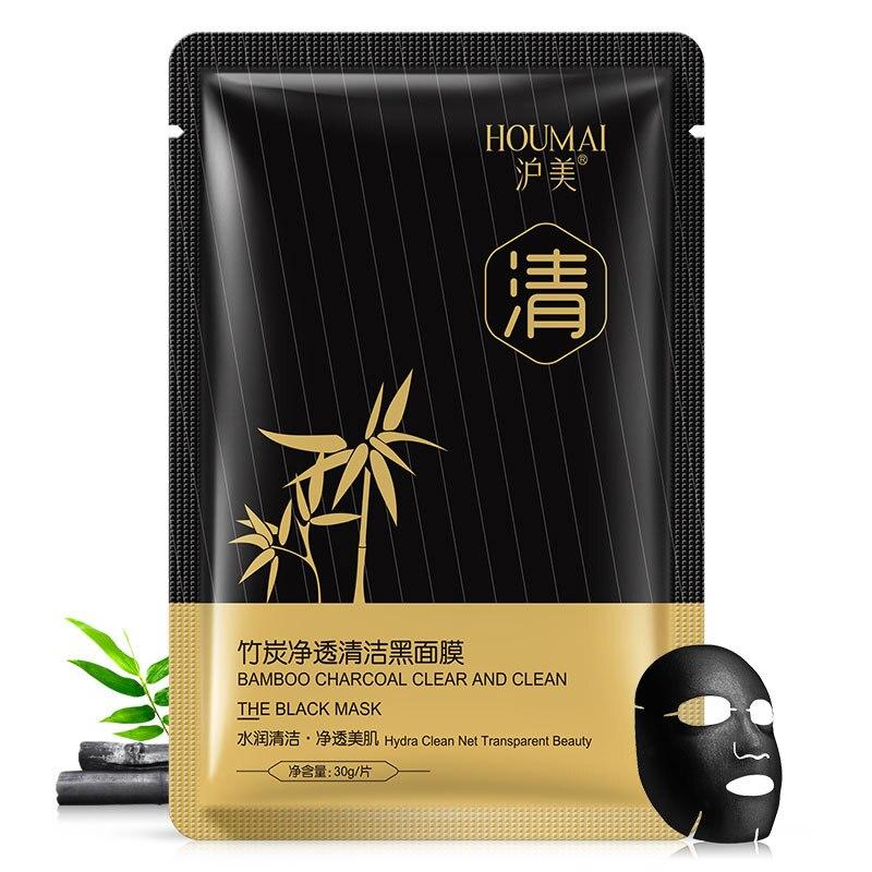 HOUMAI máscaras de carvão de Bambu máscara preta Hidratante Clareamento facial Oil-control Remover cravos máscara facial coreano