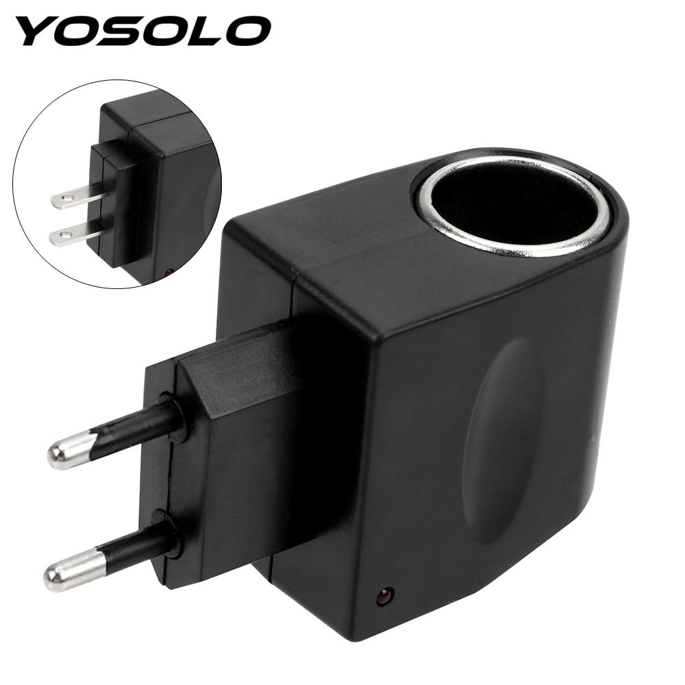 156.34руб. 20% СКИДКА|YOSOLO AC 220V к DC 12V ЕС США вилка конвертер адаптер для автомобильного прикуривателя авто аксессуары|Зажигалка| |  - AliExpress