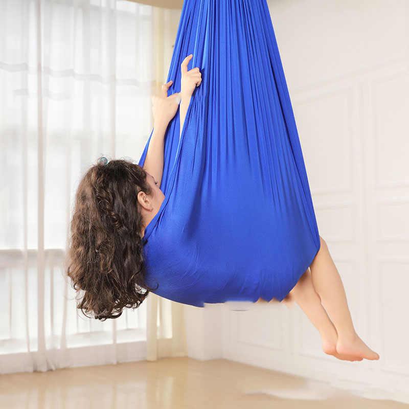 1m/1.5m 어린이 면화 야외 실내 스윙 해먹 감각적 인 어린이 치료 부드러운 탄성 소포 꾸준한 좌석 스윙