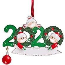2020 Рождество Украшения Сделай сам Имя Поздравления Рождество Дни рождения Вечеринка Украшение Подарок Товар Персонализированный Семья Орнамент