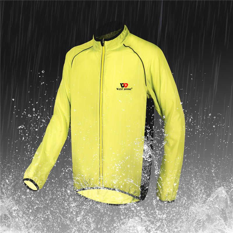 WEST FIETSEN Fietsen Jas Mannen Vrouwen Winddicht Bike Jersey Waterdicht Lange Mouw Cyclus Kleding Outdoor Sport Wind Jasje