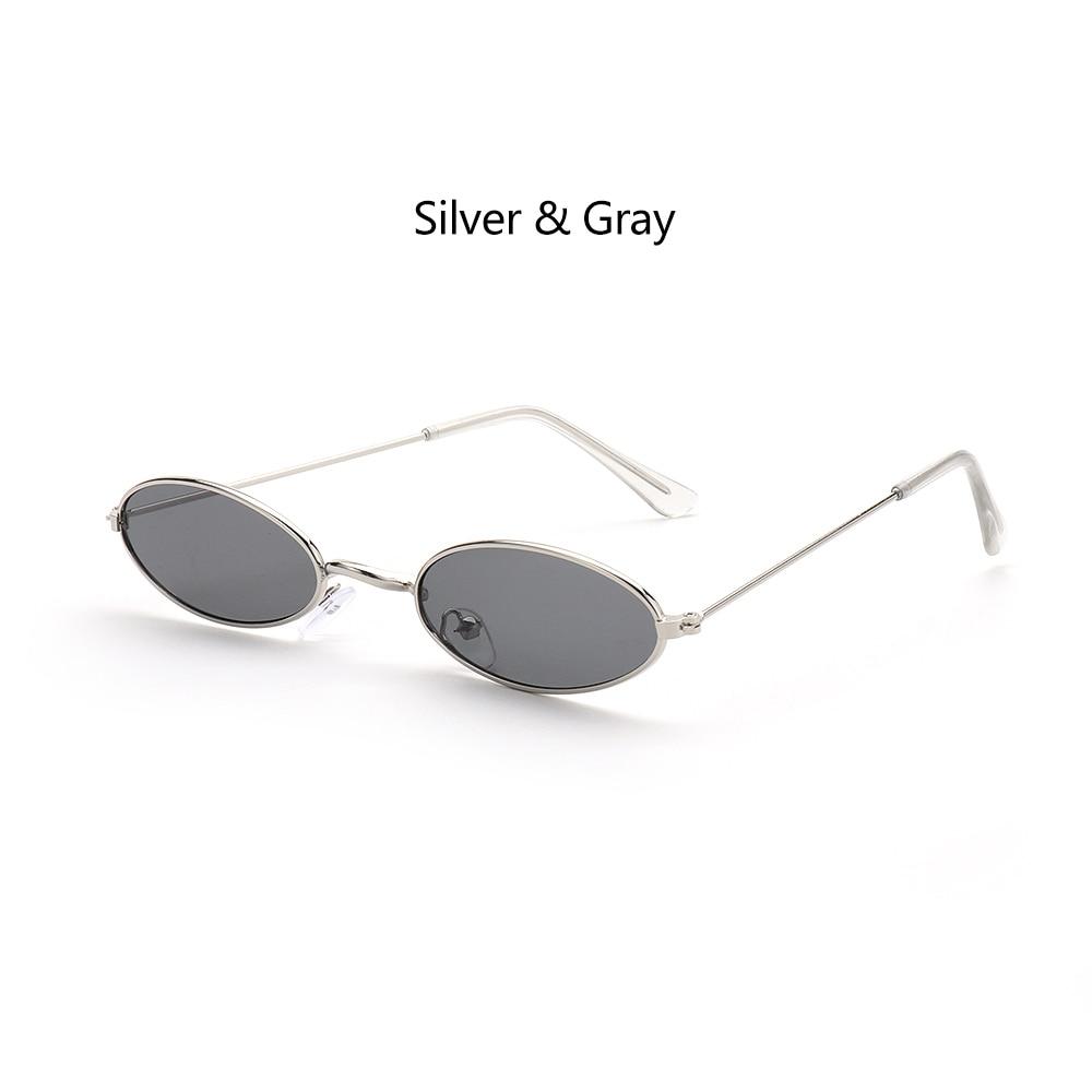Fashion Vintage Shades Sun Glasses Elegant okulary Retro Small Oval Sunglasses for Men Women Eyeglasses gafas oculos 15