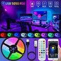 5V USB Bluetooth Led Lights Strips 5050 Flexible Led Tape Ribbon Bluetooth Backlighting Phone APP TV Light 1M 2M 3M 4M 5M