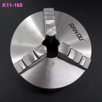 160mm 3 Jaw Lathe Chuck Self Centering 6 K11 130 Hardened Steel for Drilling Milling Machine Wrench and Screws