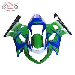 High quality Chinese fairings kit for Suzuki 20012002 2003 GSXR750 GSXR600 01-03 GSXR 600 750 green Corona body repair fairing