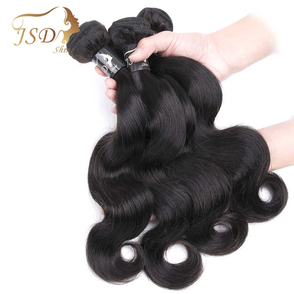 JSDShine Brasilianische Haarwebart Körper Welle Bündelt Natürliche Farbe 1/3/4 teile/los 100% Menschliches Haar Bundles Remy haar Extensions