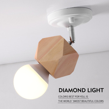 solid wood wall lamp dome light attic bedroom the sitting room porch vestibular wall lamp of the head of a bed