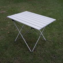Portátil ultraleve liga de alumínio dobrável mesa acampamento ao ar livre mesa jantar dobrável para festa de família piquenique churrasco