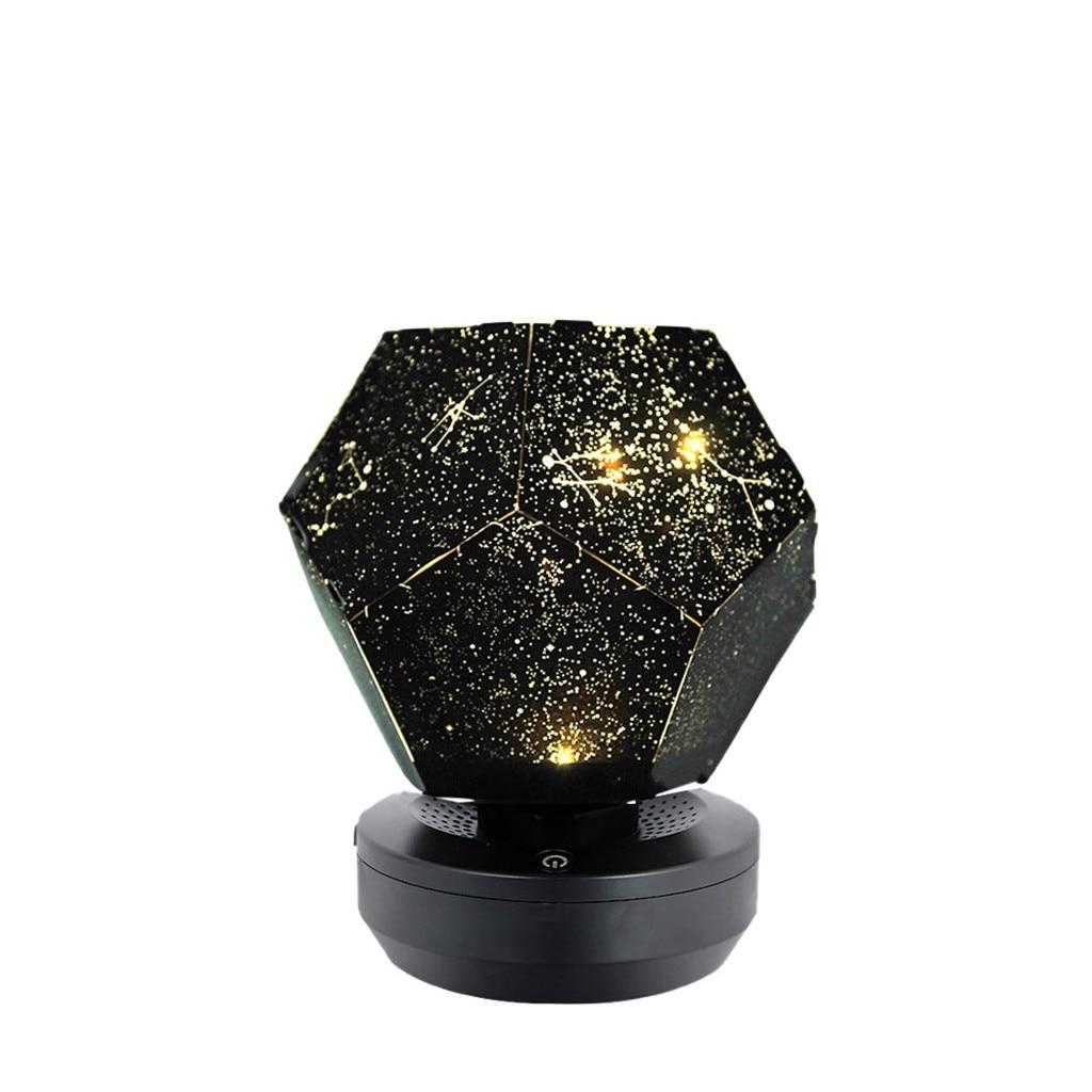 Светодиодный светильник для проектора, 3 цвета, волшебная игра, звездное небо, Проекционные Огни для детей, спальни, звезды, романтические Звездные огни, usb Тип лампы - Испускаемый цвет: Цвет: желтый