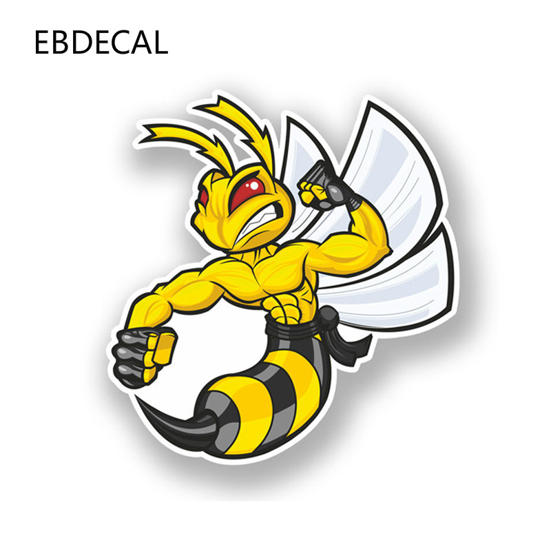 EBdecal Lovely <font><b>Angry</b></font> Cartoon Hornets For Auto <font><b>Car</b></font>/Bumper/Window/Wall Decal <font><b>Sticker</b></font> Decals DIY Decor CT10311 image