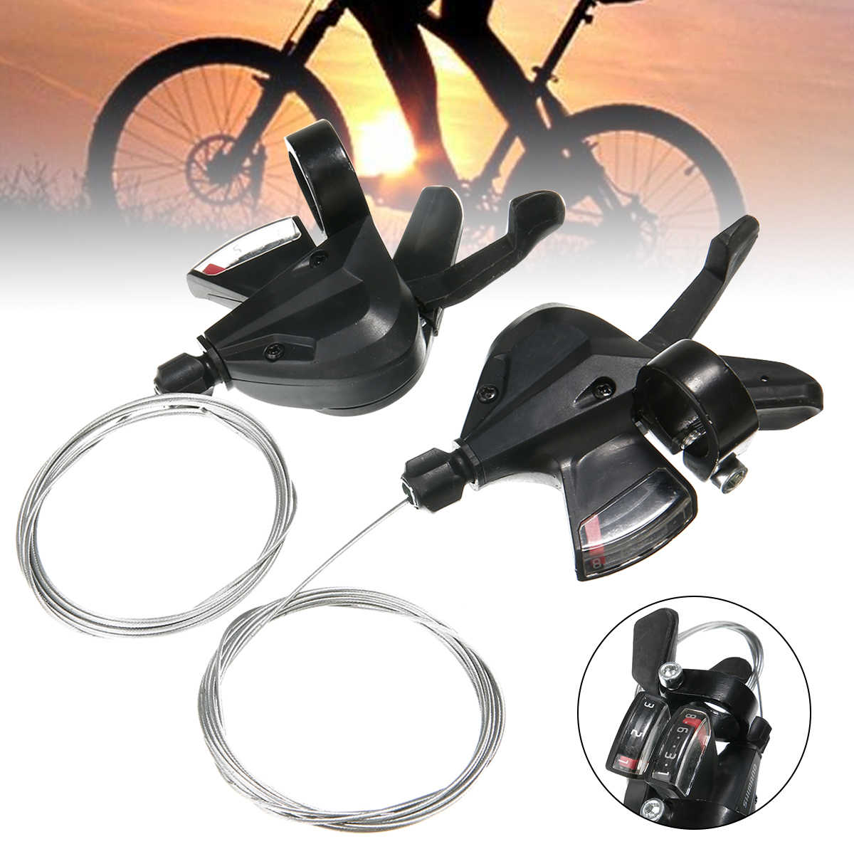 3x8 Speed Derailleurs Lever Shifter Brake Lever Trigger MTB Bike Bicycle Part US