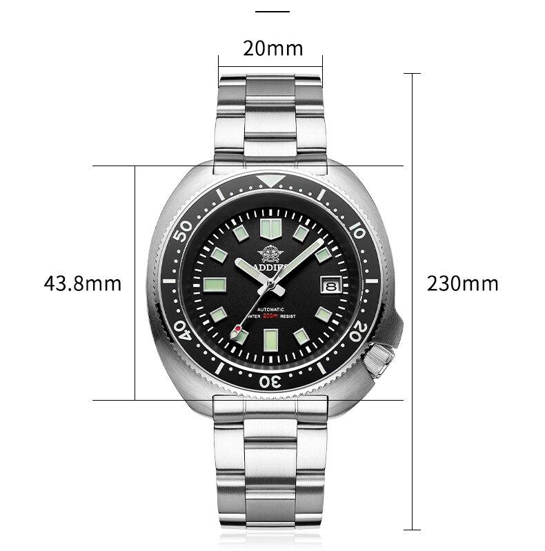 H35c844bd5d1d436eb9f72134d52bee1dO 1970 Abalone 200m Diver Watch Sapphire crystal calendar NH35 Automatic Mechanical Steel diving Men's watch