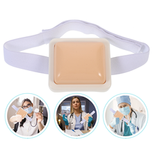 Students Injection Practice Pad Nurse Silicone Injection Training Model with Strap